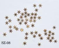 "Логотип ""Снежинки золото елочки"", 25 штук SZ-08"
