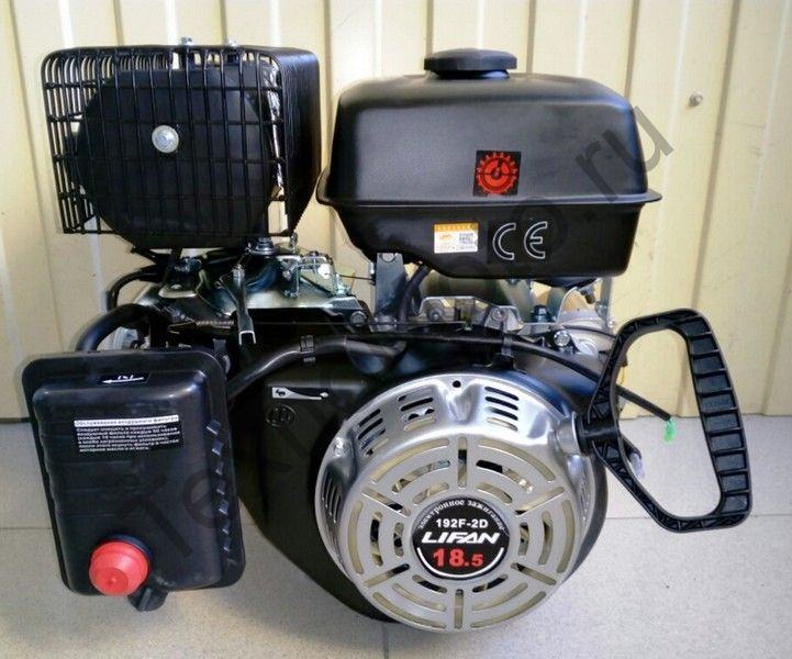 Двигатель Lifan 192F-2 D25 (18,5 л. с.) с катушкой освещения 7Ампер (84Вт)