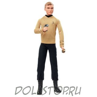 Коллекционная кукла Барби Капитан Кирк  Стар Трек - Barbie Star Trek 50th Anniversary Captain Kirk Doll
