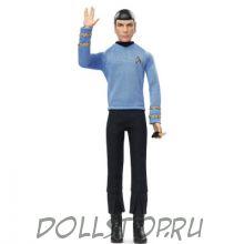 Коллекционная кукла Барби Помощник Капитана Спок  Стар Трек - Barbie Star Trek 50th Anniversary Spock Doll