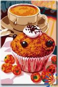 "Картина по номерам ""HOBBART Lite. Десерт в кофейне"" 20х30"