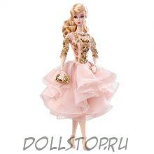 Коллекционная кукла Барби в коктейльном платье (Румянец  и золото) - Blush & Gold Cocktail Dress Barbie Doll, DWF55