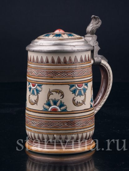 Изображение Кружка 1/4 л, Mettlach, Германия, 1890 г