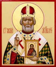 Тарасий Константинопольский (рукописная икона)