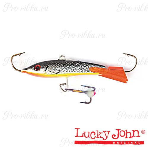 Балансир Lucky John CLASSIC 8 + тройник, 80мм, 27г, цвет 47H, блистер
