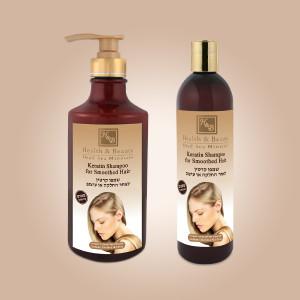 Шампунь с кератином для волос после термического воздействия Health & Beauty (Хелс энд Бьюти) 400 мл