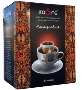 Кофе Колумбия натуральный молотый в дрип-пакетах (8 шт. по 8 г)