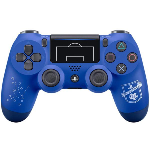 """Sony Dualshock 4 v2 F.C. Blue Ограниченная серия """"Fifa 18"""" Геймпад для Ps4 синий"""