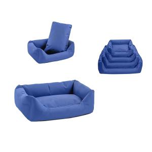 Лежак Yami-Yami прямоугольный с подушкой №1 темно-синий для кошек 55х40х18см