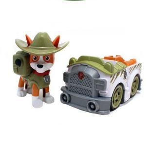 Трекер (новый щенок)  на машинке с музыкой и светом (Щенячий патруль)