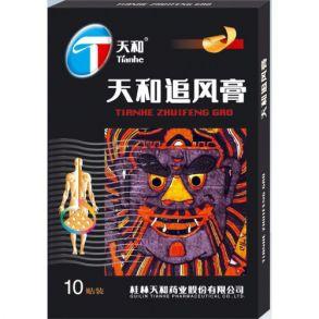Пластырь Тяньхэ Чжуйфэн Гао (Tianhe Zhuifeng Gao) обезболивающий усиленный; перфорированный 10шт
