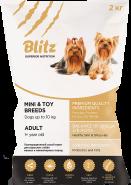 Blitz Adult сухой корм для взрослых собак мелких и миниатюрных пород 7 кг