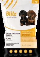 Blitz Puppy сухой корм для щенков мелких и средних пород 3 кг