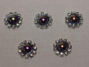 Кабошон, металл, 20 мм, цвет основы: серебро (1уп = 10шт), Арт. КБС0320-10