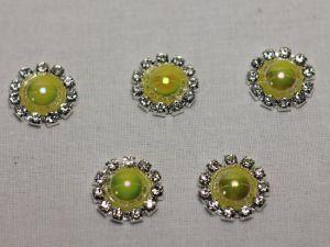 Кабошон, металл, 20 мм, цвет основы: серебро (1уп = 10шт), Арт. КБС0320-16