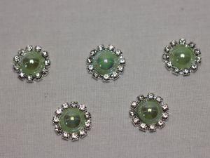 Кабошон, металл, 20 мм, цвет основы: серебро (1уп = 10шт), Арт. КБС0320-21