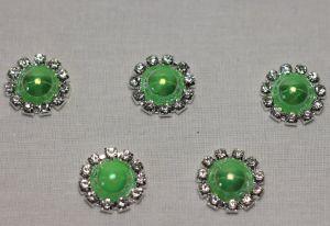 Кабошон, металл, 20 мм, цвет основы: серебро (1уп = 10шт), Арт. КБС0320-22