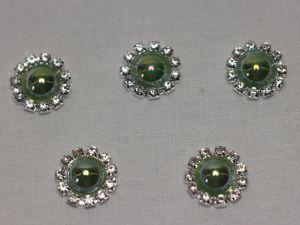Кабошон, металл, 20 мм, цвет основы: серебро (1уп = 10шт), Арт. КБС0320-23