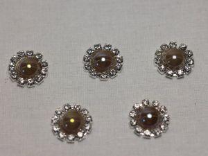 `Кабошон, металл, 20 мм, цвет основы: серебро, Арт. Р-КБС0320-7