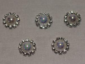 `Кабошон, металл, 20 мм, цвет основы: серебро, Арт. Р-КБС0320-11