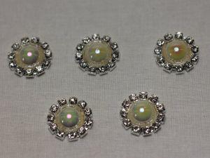 `Кабошон, металл, 20 мм, цвет основы: серебро, Арт. Р-КБС0320-13