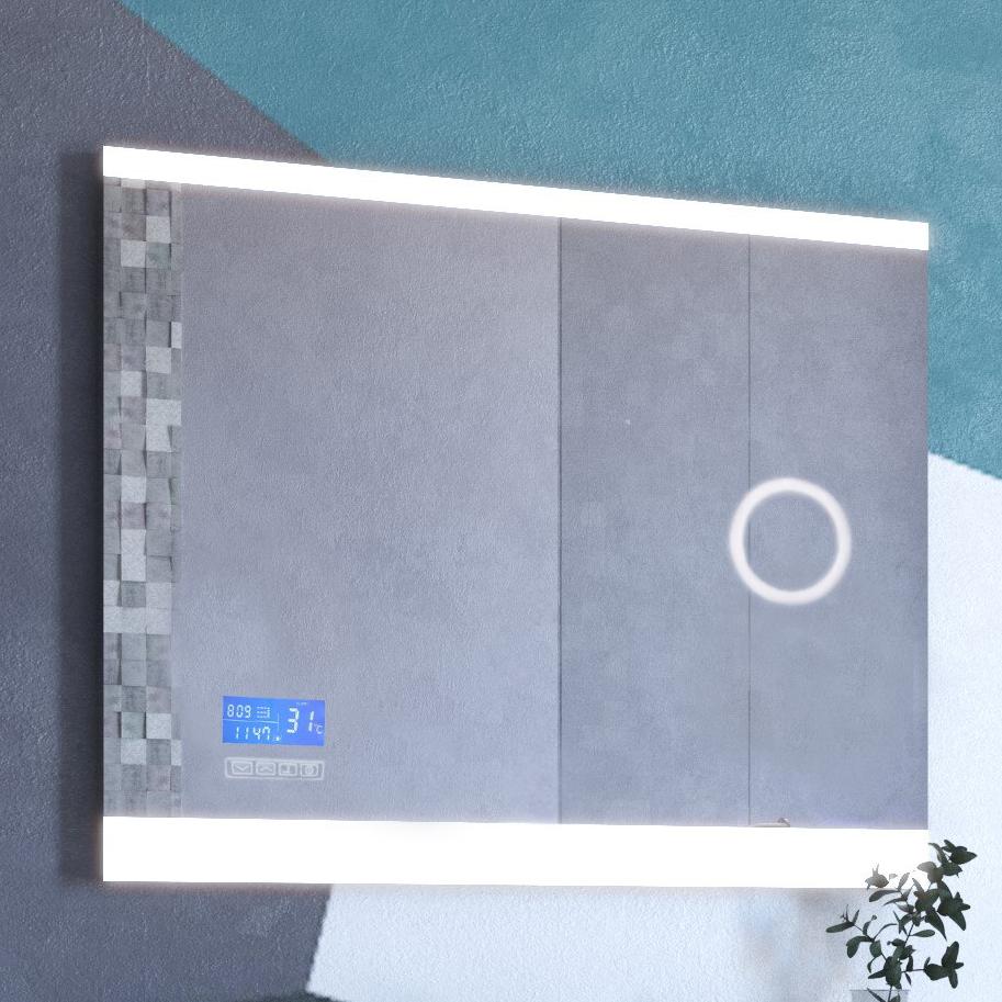 Зеркало с часами и подогревом Versante new 700 размер 70х65 ФОТО