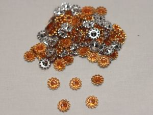 Кабошон, акрил, 10 мм, цвет: оранжевый (1уп = 100шт)