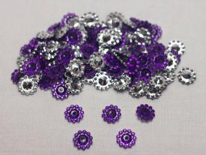 Кабошон, акрил, 10 мм, цвет: фиолетовый (1уп = 100шт)
