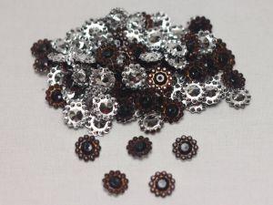 Кабошон, акрил, 10 мм, цвет: коричневый (1уп = 100шт)
