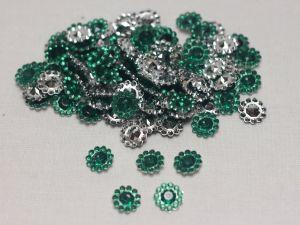 Кабошон, акрил, 10 мм, цвет: зеленый (1уп = 100шт)