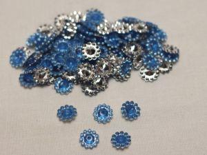 Кабошон, акрил, 10 мм, цвет: голубой (1уп = 100шт)