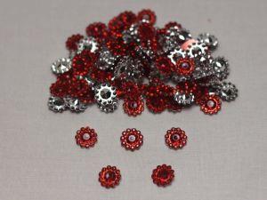 `Кабошон, акрил, 10 мм, цвет: красный (1уп = 10шт)