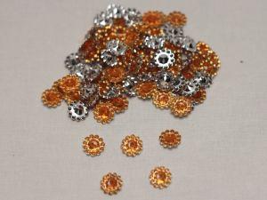 `Кабошон, акрил, 10 мм, цвет: оранжевый (1уп = 10шт)