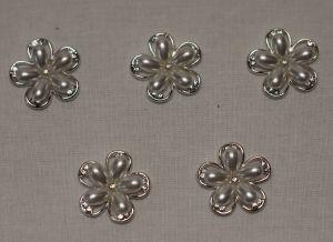 `Кабошон, металл, цвет основы: серебро, 25 мм