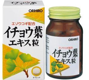 ORIHIRO Экстракт Гинкго билоба + Элеутерококк (240 гранул)