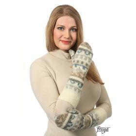 Варежки длинные вязаные из Исландской шерсти 08410-32