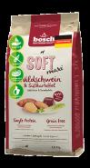 Bosch Soft Maxi с кабаном и бататом Полнорационный корм для взрослых собак крупных пород с чувствительным пищеварением (12,5 кг)