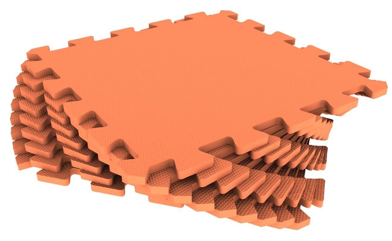 Мягкий пол универсальный 33 x 33 см Оранжевый