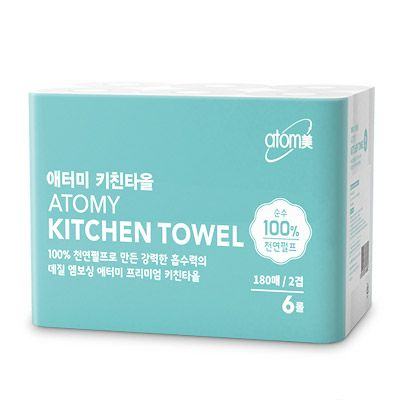 Atomy kitchen towels (180 sheets) * 6ea Атоми кухонные салфетки