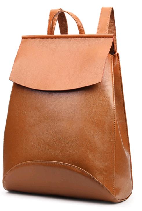 Рюкзак-сумка женская (коричневый)