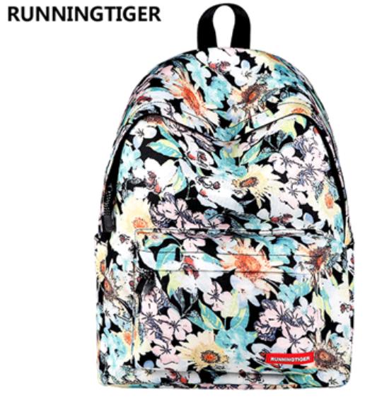 Рюкзак Runningtiger (белые цветы)