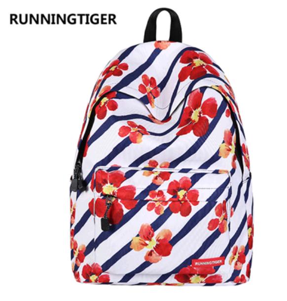 Рюкзак Runningtiger (красные цветы)