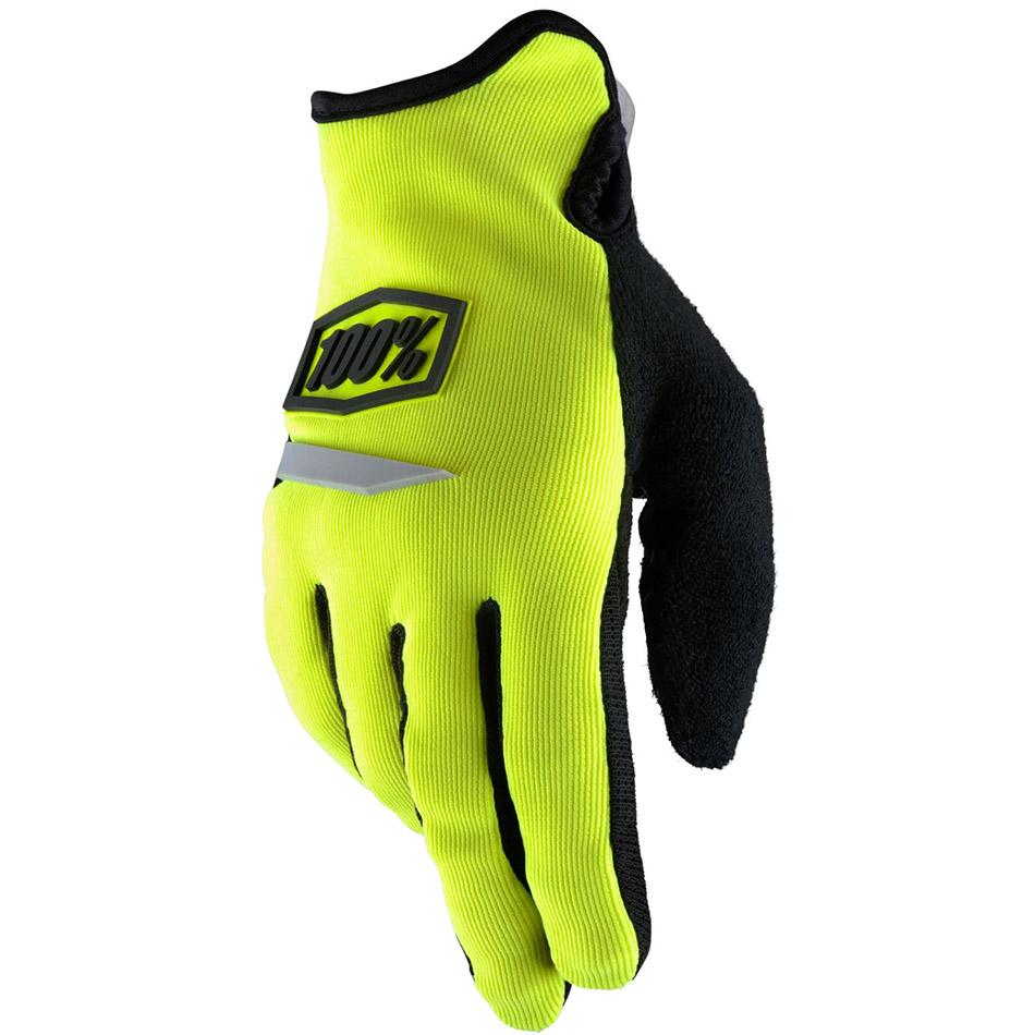 100% - Ridecamp Women's Neon Yellow перчатки, желтые