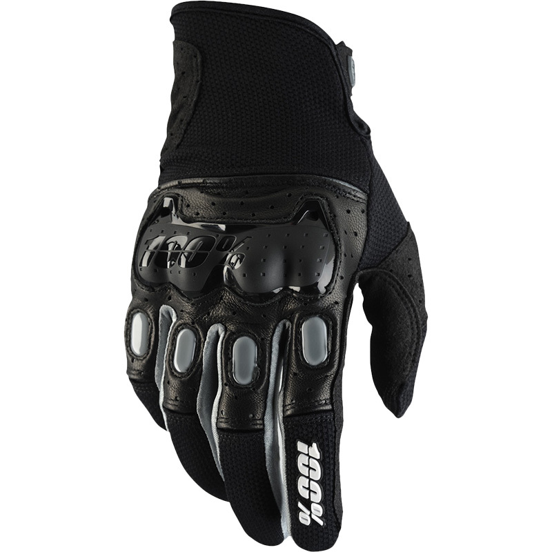 100% - Derestricted Black/Gray перчатки, черно-серые