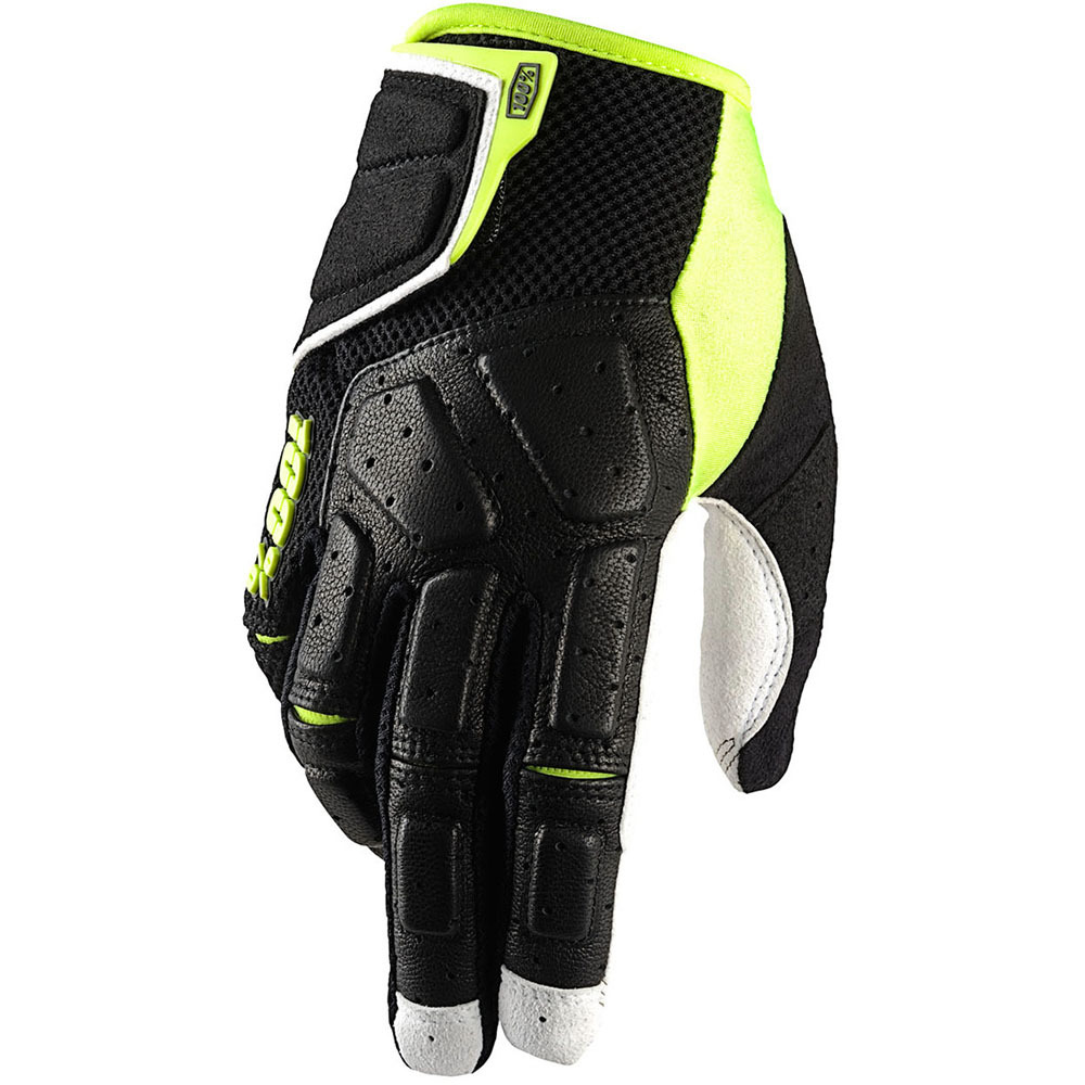100% - Simi Black/Neon Yellow перчатки, черно-желтые