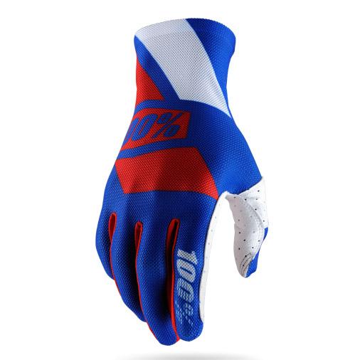 100% - Celium Blue/Red перчатки, сине-красные