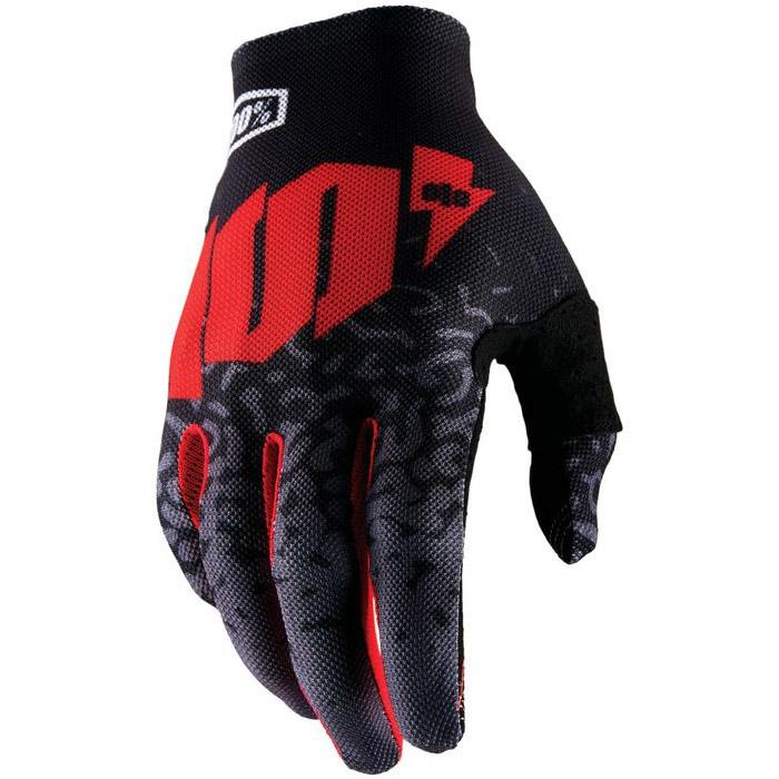 100% - Celium II Metal Black перчатки, черные