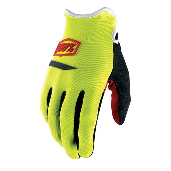 100% - Ridecamp Neon перчатки, желтые