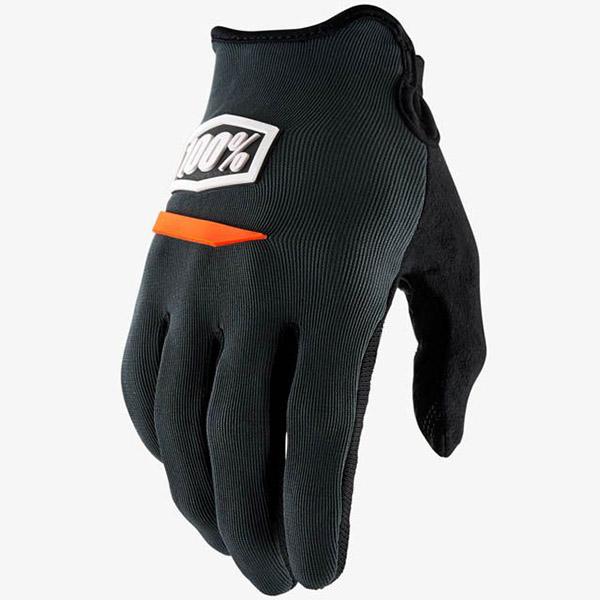 100% - Ridecamp Charcoal перчатки, серые