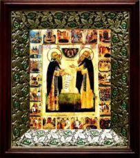 Зосима и Савватий Соловецкие (21х24), киот со стразами